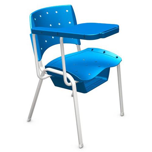 Cadeira escolar universitária plástica