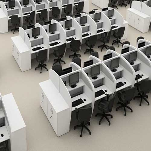 Baias ergonômicas para Call Center