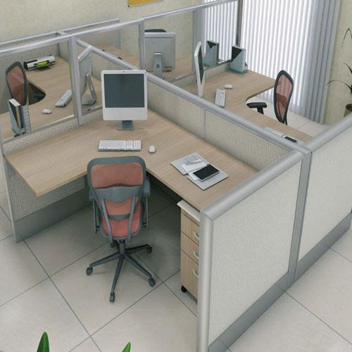 Estação de trabalho divisórias