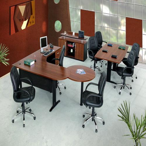 Mesa e cadeira linha executiva 01