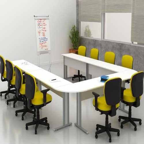 Mesa de Reunião Conjugada em U