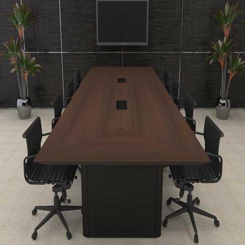 Mesa de Reunião Diretoria Retangular Corp