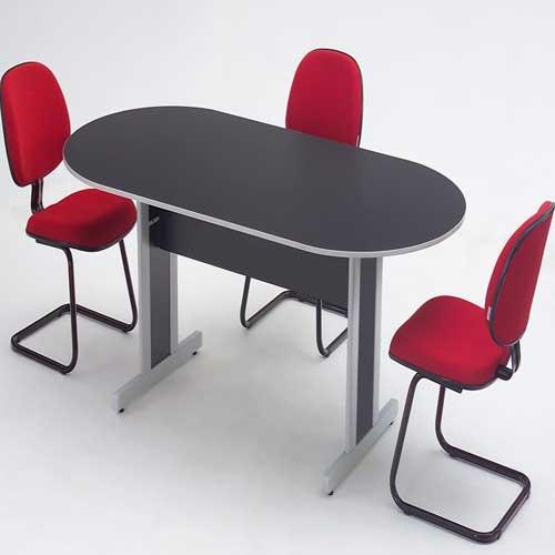Mesa de Reunião Oval 18mm
